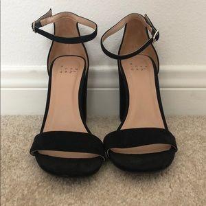 Black velvet heels from target, 4 inch heel